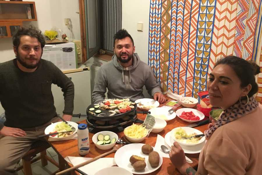 Living Local Hungary Raclette party