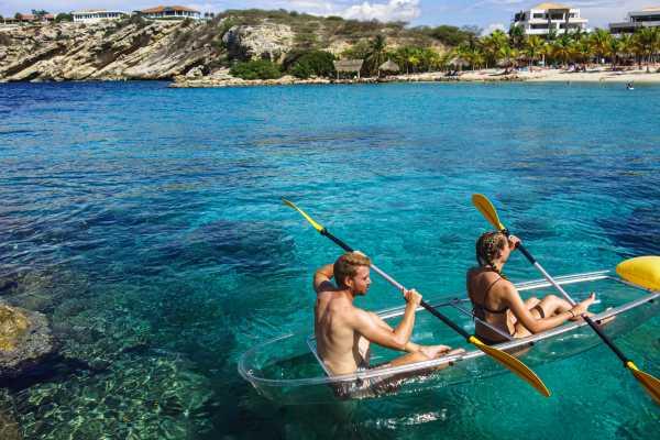 1 Hour rental Glass-Bottom Kayak