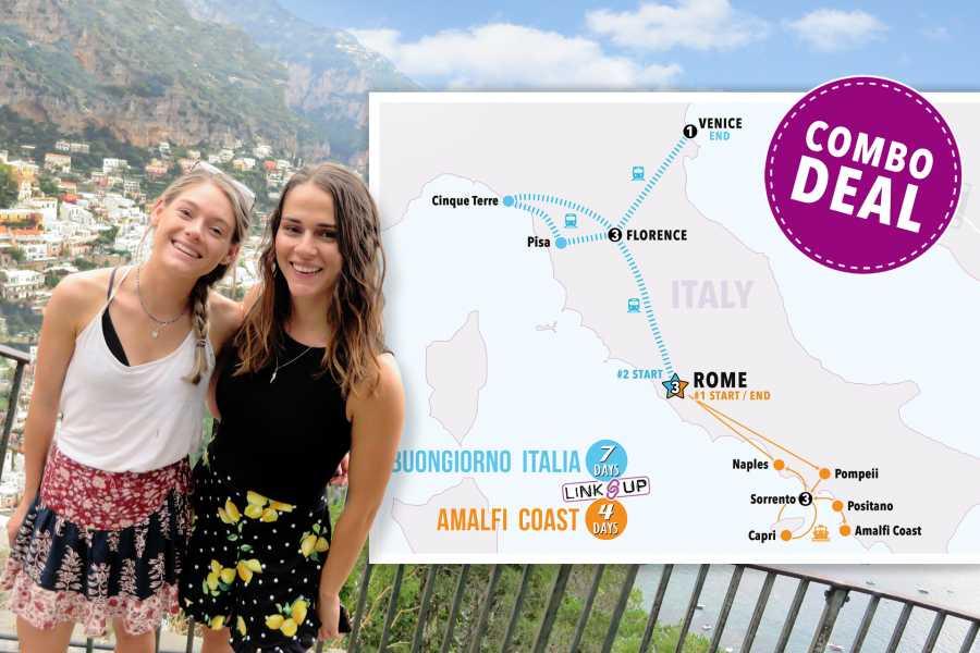 Italy on a Budget tours BUONGIORNO & AMALFI COAST 11 DAYS