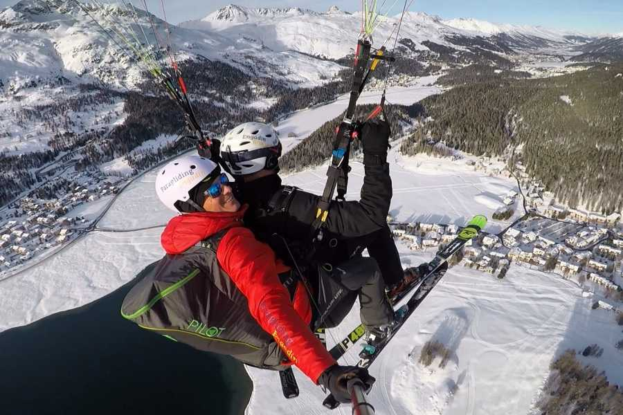 Paragliding Engadin GmbH Winter Glide on Skis