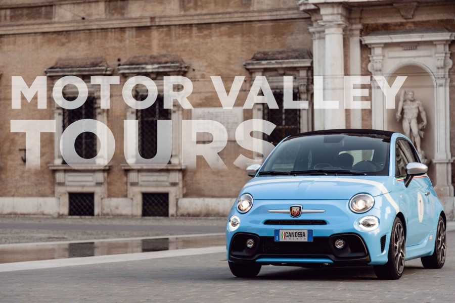 Modenatur Motor Valley tours driving experience with Abarth 595 Cabriolet