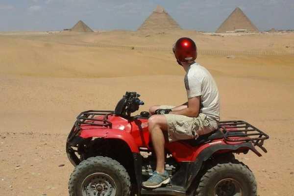 1 Hour ATV at Giza Pyramids from Cairo