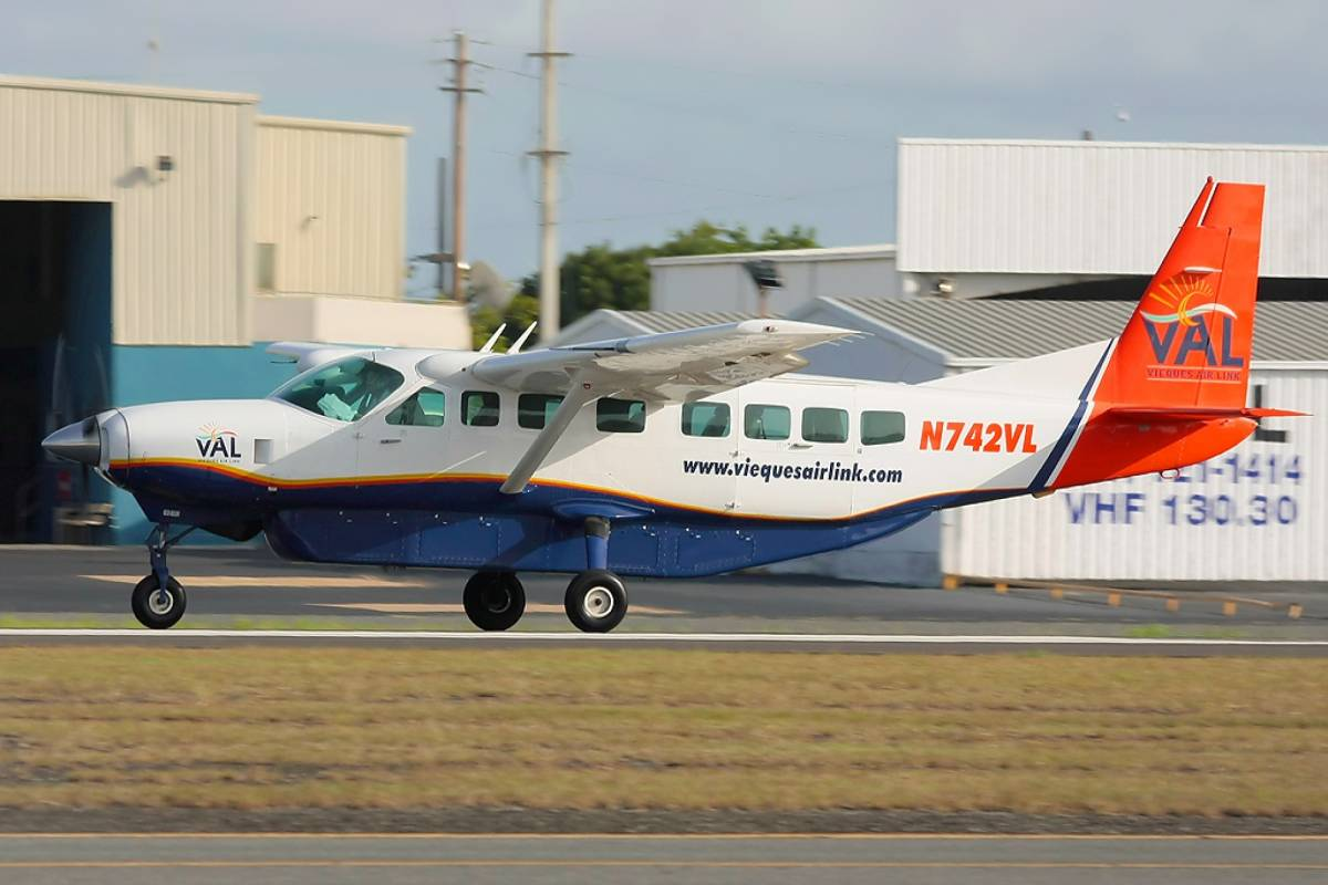 Blue Waters Caribbean Adventures Round Trip Transportation to Vieques by Airplane