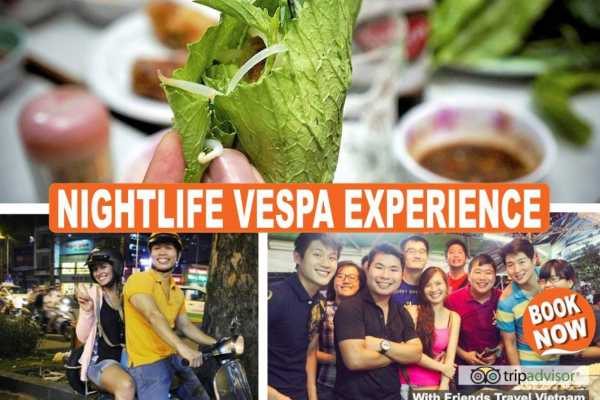 Friends Travel Vietnam Nightlife Vespa Experience