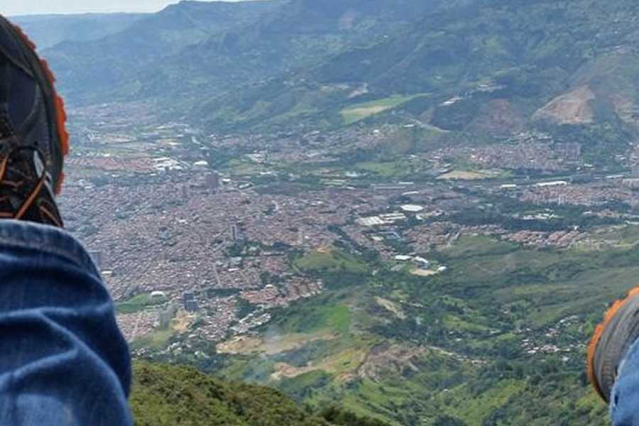 Medellin City Services Private Medellin Paragliding and Christmas Lights Tour