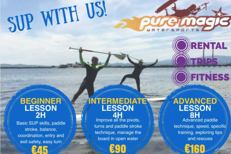 pure magic watersports SUP lesson 2 x 2hrs(4hrs)