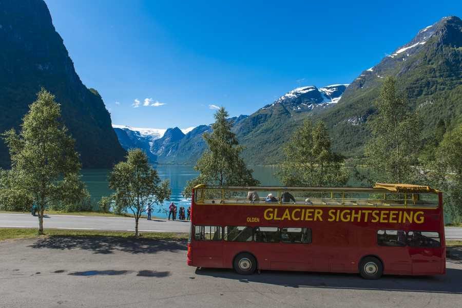 Olden Adventure Open Top Glacier Sightseeing from port of olden