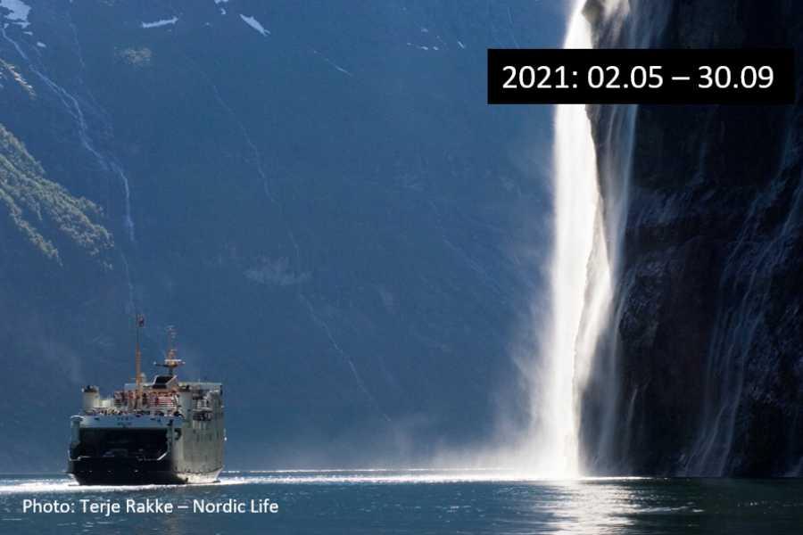 Travel like the locals (Møre og Romsdal) Hellesylt & UNESCO Geirangerfjord (one way)