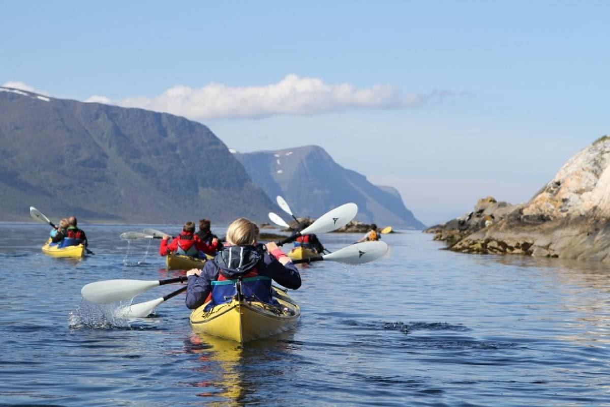 Kayak More Tomorrow AS Sea Kayak Nørva Sound and the Islands of Ellingsøy fjord