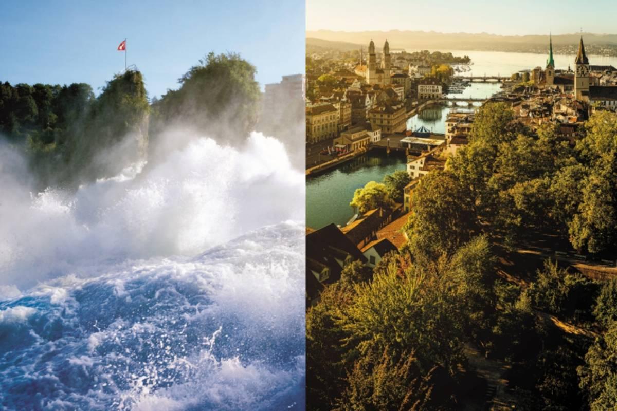 Best of Switzerland Tours Sparangebot 2: Rheinfall & Stadtrundfahrt Zürich