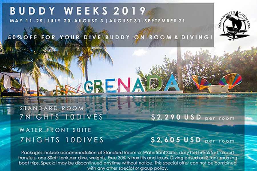 Aquanauts Grenada Dive Buddy Week: Hotel + Dive Package