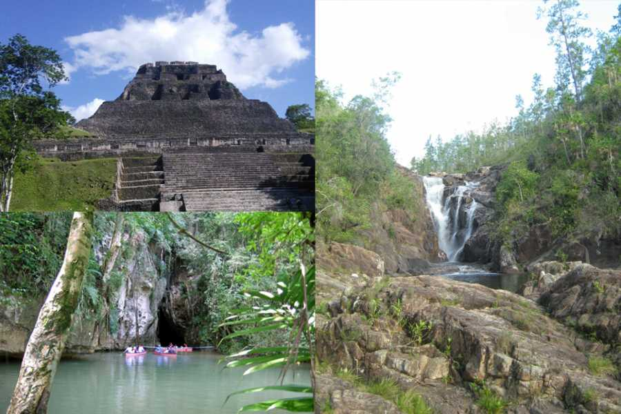 Cayo Inland Expeditions Xunantunich Maya Temple OR Barton Creek Cave with Swimming at Big Rock Falls Combo