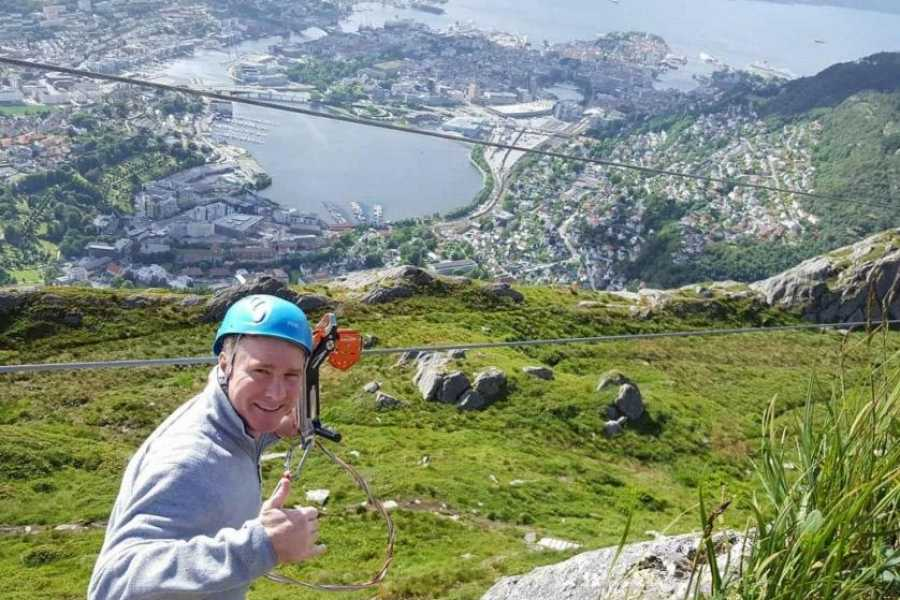 Norway Insight Zipline on Mt Ulriken
