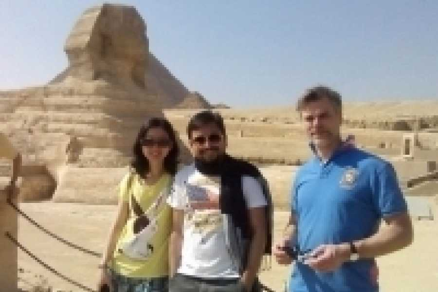 Deluxe Travel Cairo Layover Tour Pyramids of Giza Sphinx and Museum