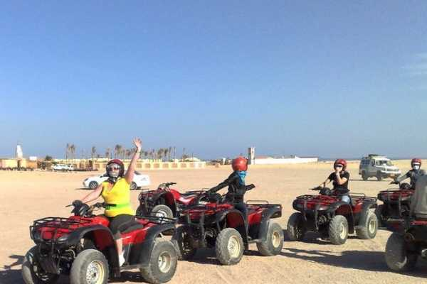 EMO TOURS EGYPT BUDGET Sunset Desert Safari Trip by Quad Bike IN HURGHADA