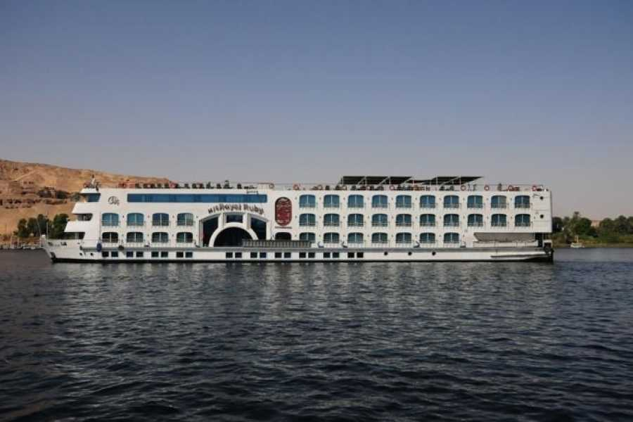 EMO TOURS EGYPT VIAGENS REAL DO RUBI DE LUXO CRUZEIRO PELO NILO DE ASWAN PARA LUXOR PARA 4 DIAS 3 NOITES