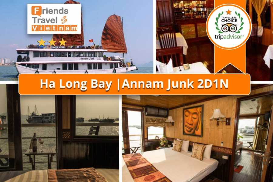 Friends Travel Vietnam Annam Junk Cruise | Halong Bay 2D1N
