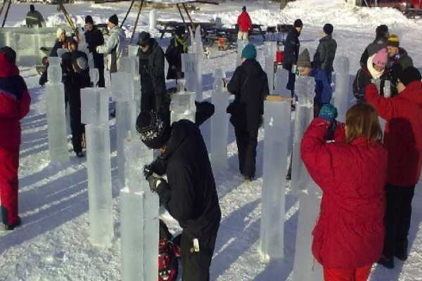 Puls Camp Åre Ice sculpting
