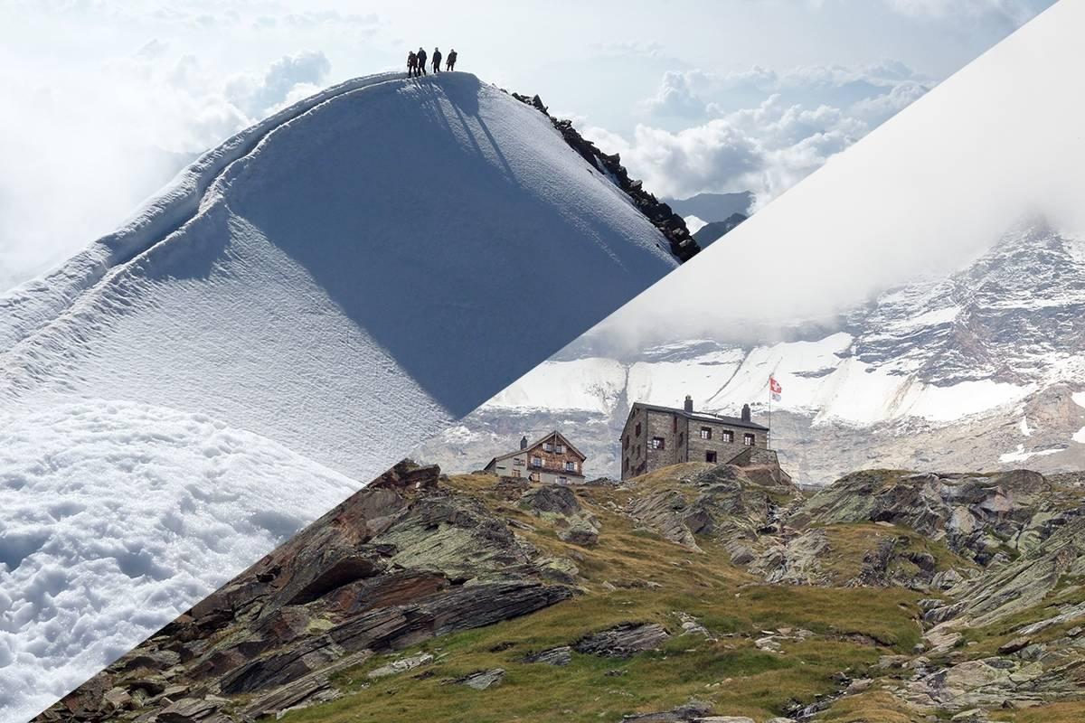 Saas-Fee Guides Weissmies 4023m ab Weissmieshütte