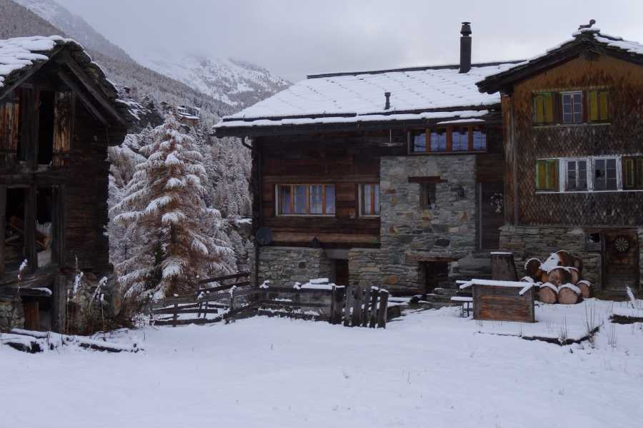 Saas-Fee Guides Tuesday evening Romantic evening tour with Raclette dinner in a traditional wine cellar