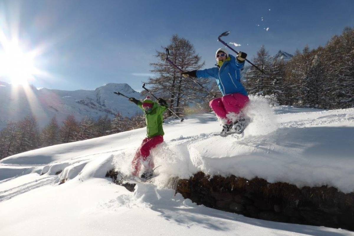 Saas-Fee Guides Mittwoch Märchenhafte Schneeschuhtour