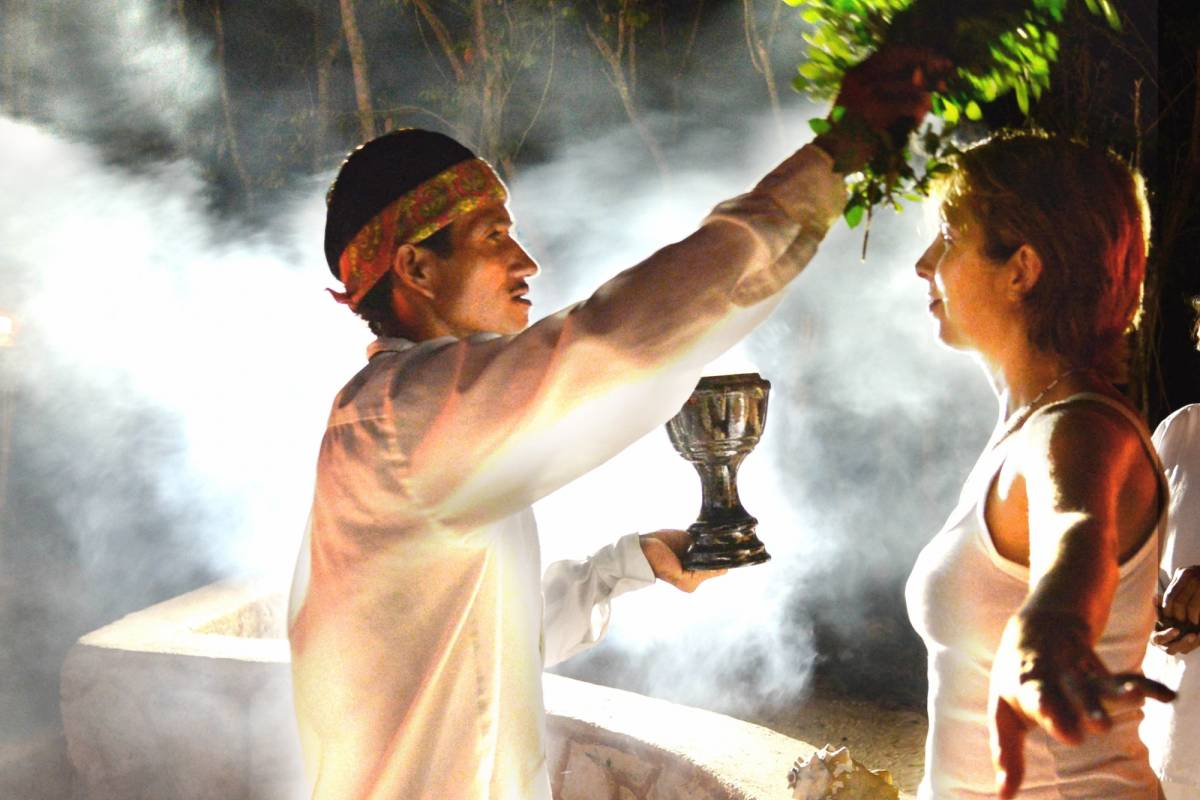 Cancun Vacation Experts MAYAN CEREMONY AT NIGHT
