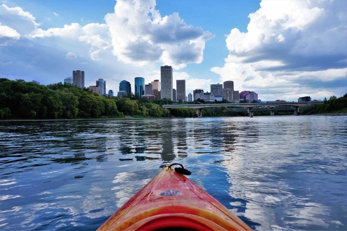 Edmonton Canoe Sunday all day solo kayak
