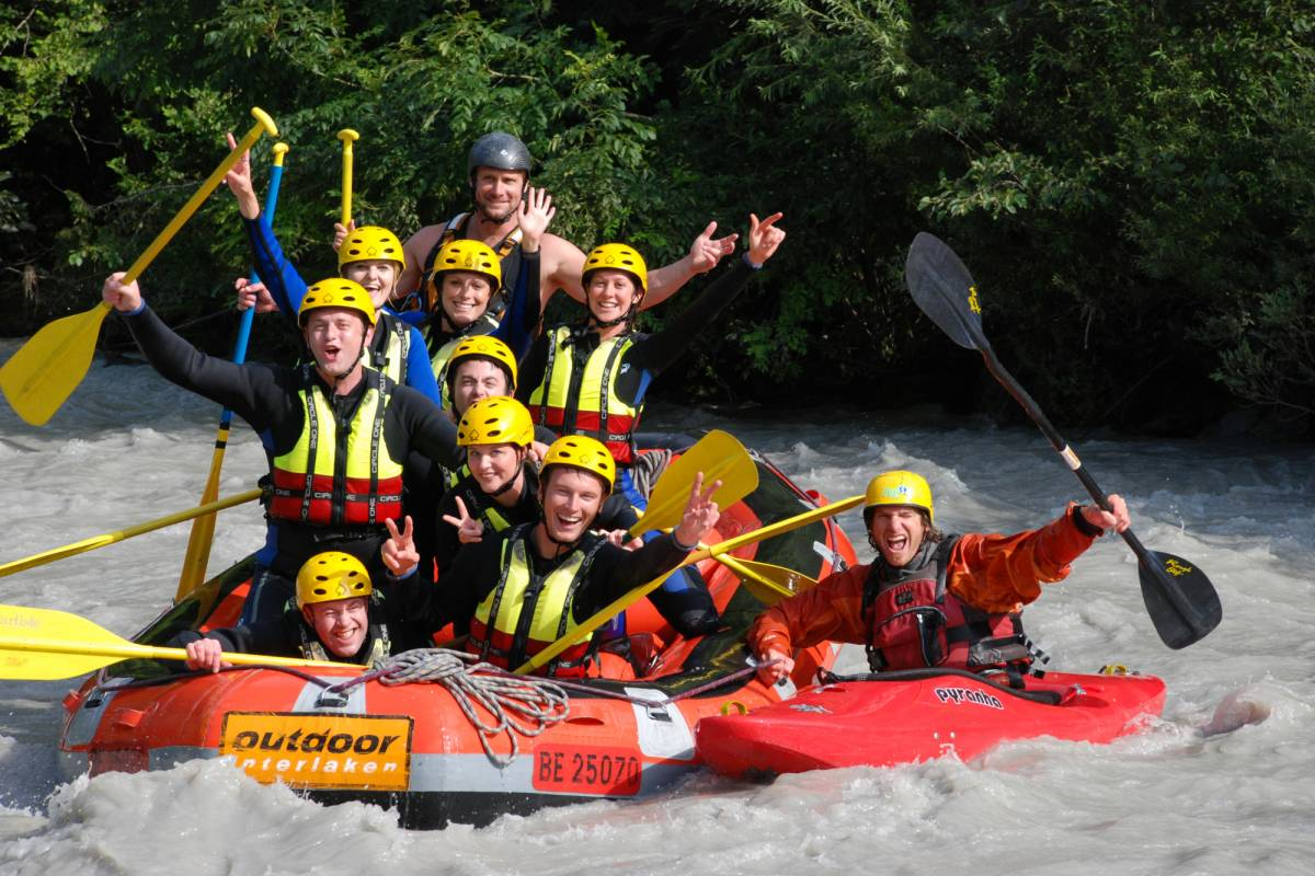 Best of Switzerland Tours Rafting Tour in Interlaken ab Luzern