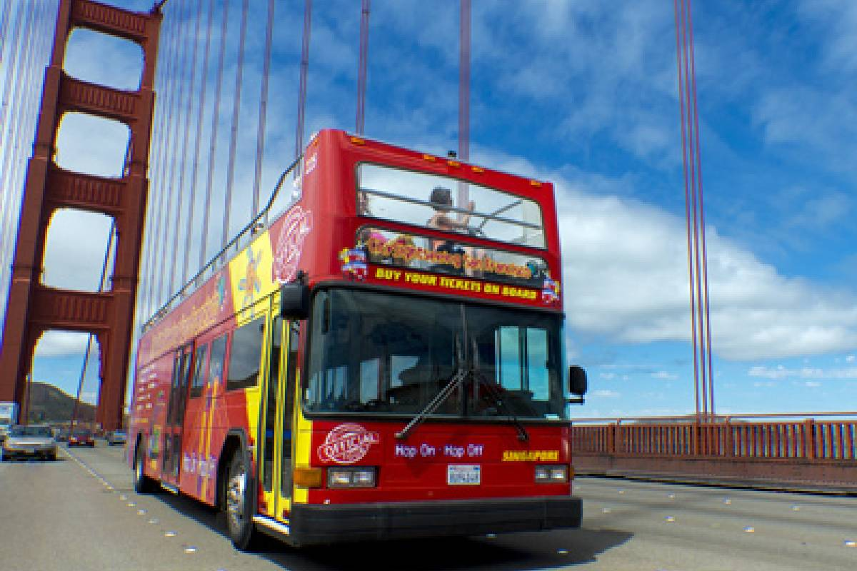 Dream Vacation Builders Hop-On Hop-Off Double-Decker Downtown Tour (24 Hours) Pass