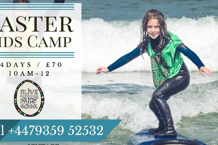 Alive Surf School Easter Kids Camp