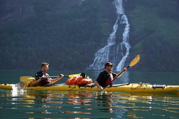 2 day, Geirangerfjord Kayak Adventure - off the beaten path