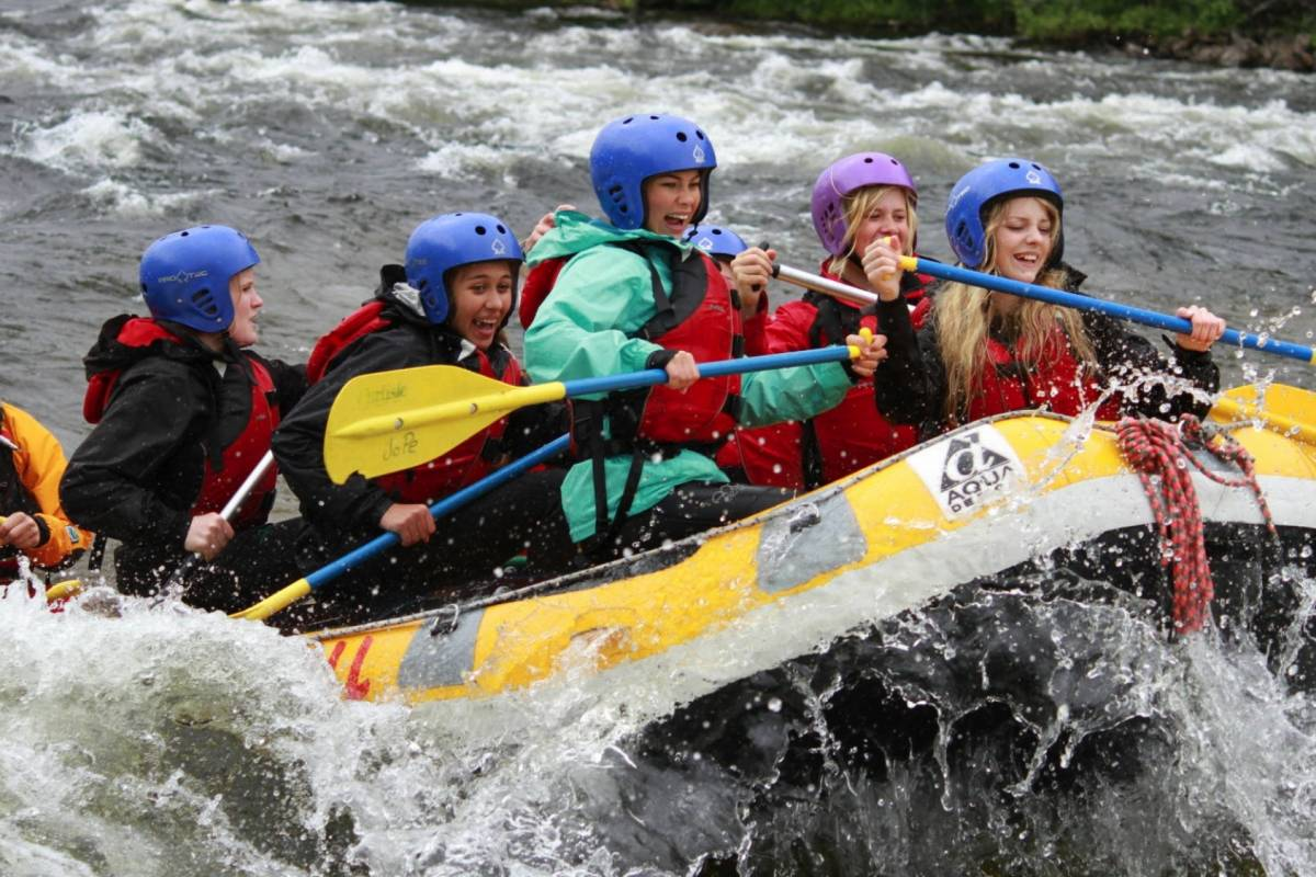 Camp Åre White-water rafting