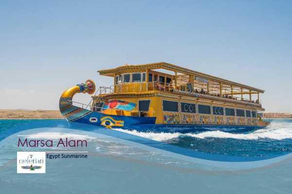 Marsa alam tours Nefertari Seacope Boot Ausflug von Marsa Alam