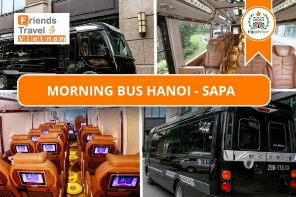 Friends Travel Vietnam Morning Bus Hanoi - Sapa (Pumpkin Limousine 6.30AM)