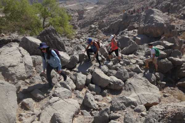 Samar Trail hike Jebel Jais - New Route