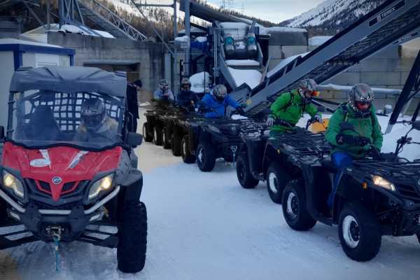 BuggyPark by HB-Adventure Switzerland 4x4 ATV Schnuppertour auf Schnee und Eis (Engadin)
