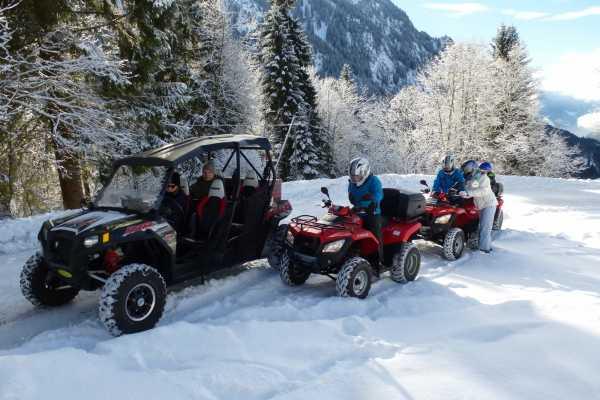 Daniels Fun Tours Quad Tour Schnee mit Fondue