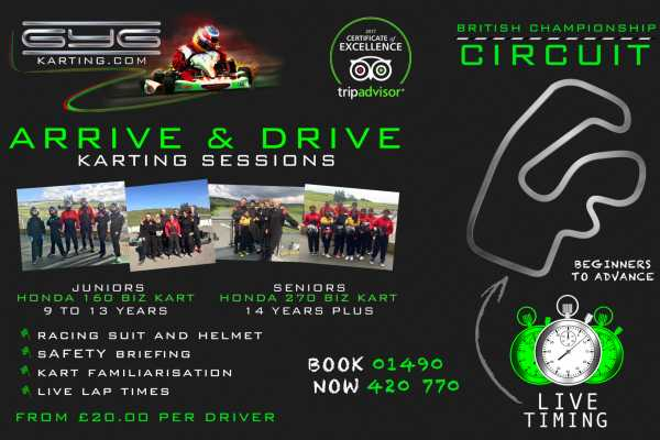 Arrive & Drive - GYG KARTING LTD