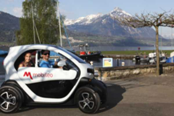 mobileo Schweiz Renault Twizy, Miete für 2 Stunden.