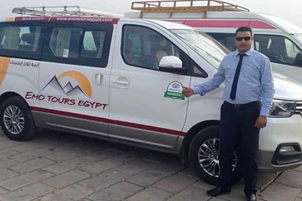 EMO TOURS EGYPT プライベートバンによるルクソールからアスワンへの送迎を手配