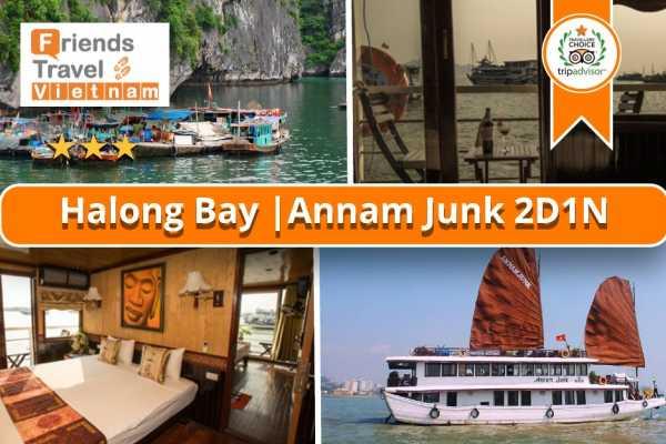 Friends Travel Vietnam Annam Junk Cruise | Halong Bay 2D1N