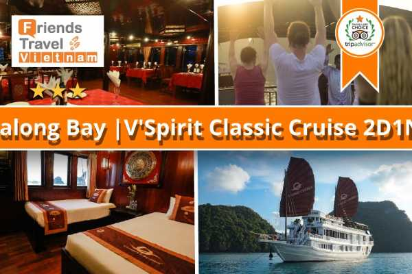 Friends Travel Vietnam V'spirit Cruise | 2D1N Halong Bay