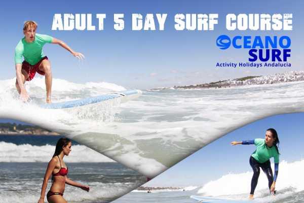 Oceano Surf Camps Curso de Surf Conil 5 Dias Adultos