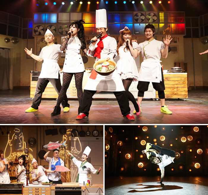 Chef Show, non-verbal culinary with beatbox, sing, cook and dance