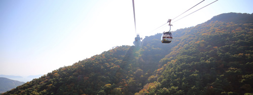 Mt. Mireuksan by cable car