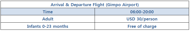 shared shuttle pricing details to gimpo Airport