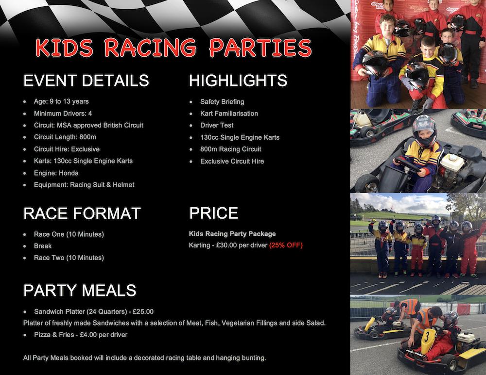 Kids Racing Party - GYG KARTING LTD