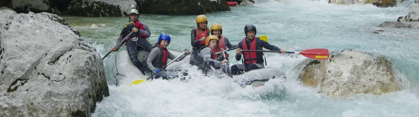 Rafting túra a Soca folyón