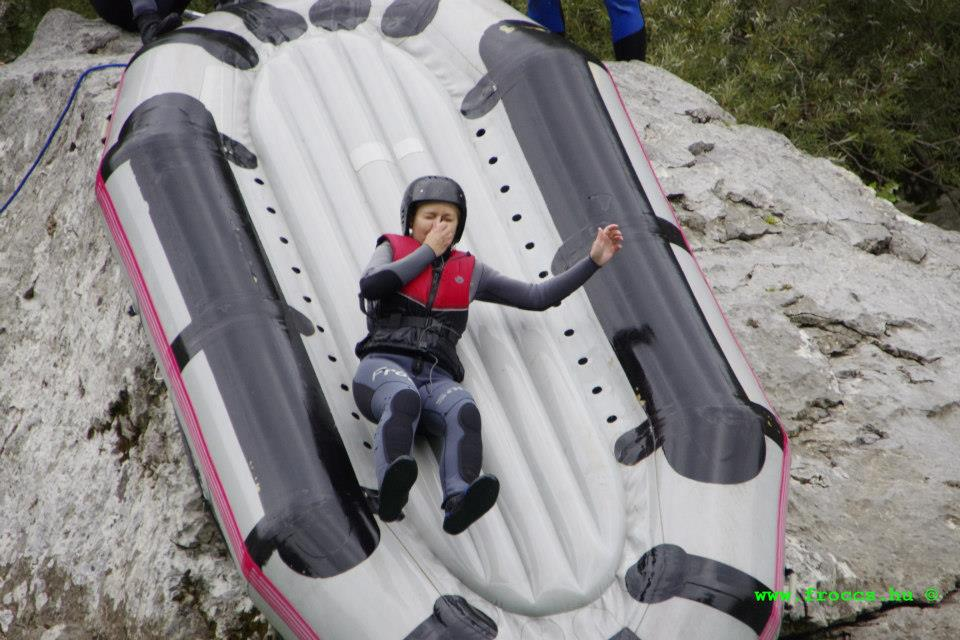 Rafting slide on the Soca river Bovec, Slovenia
