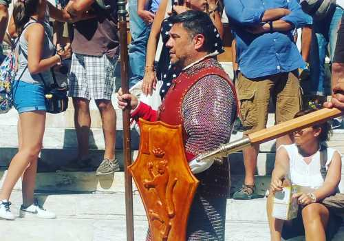 This picture is of my friend Paolo dressed in historic clothing during a Palio parade. He was born and raised in Siena and is a passionate Pantera contrada member who works for the Province of Siena. Although I am not baptized into a contrada, I always root for the Selva (Forest) contrada.